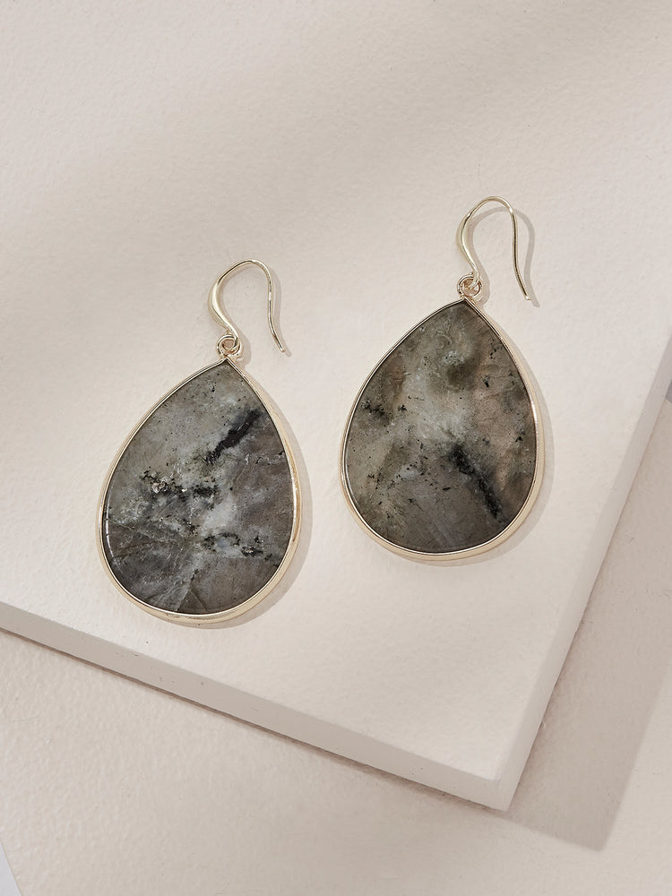 olive + piper Wolfe Drop Earrings - Labradorite