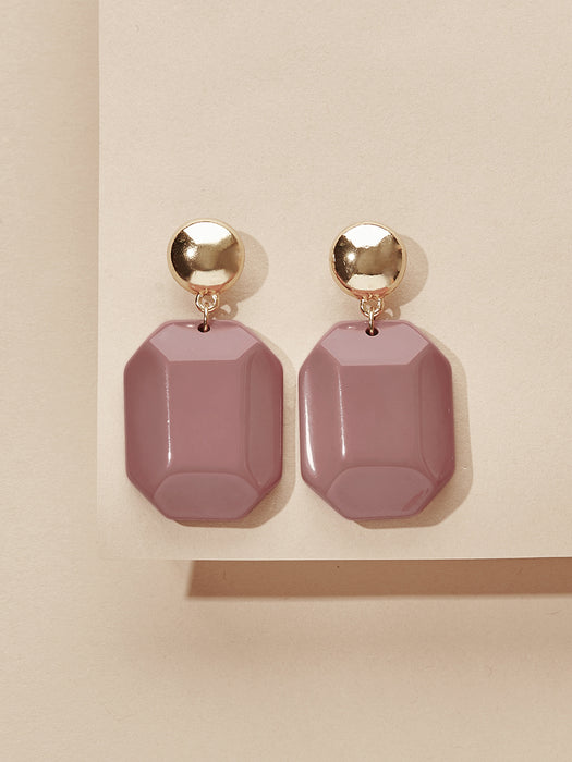 olive + piper Ellie Drop Earrings - Mauve