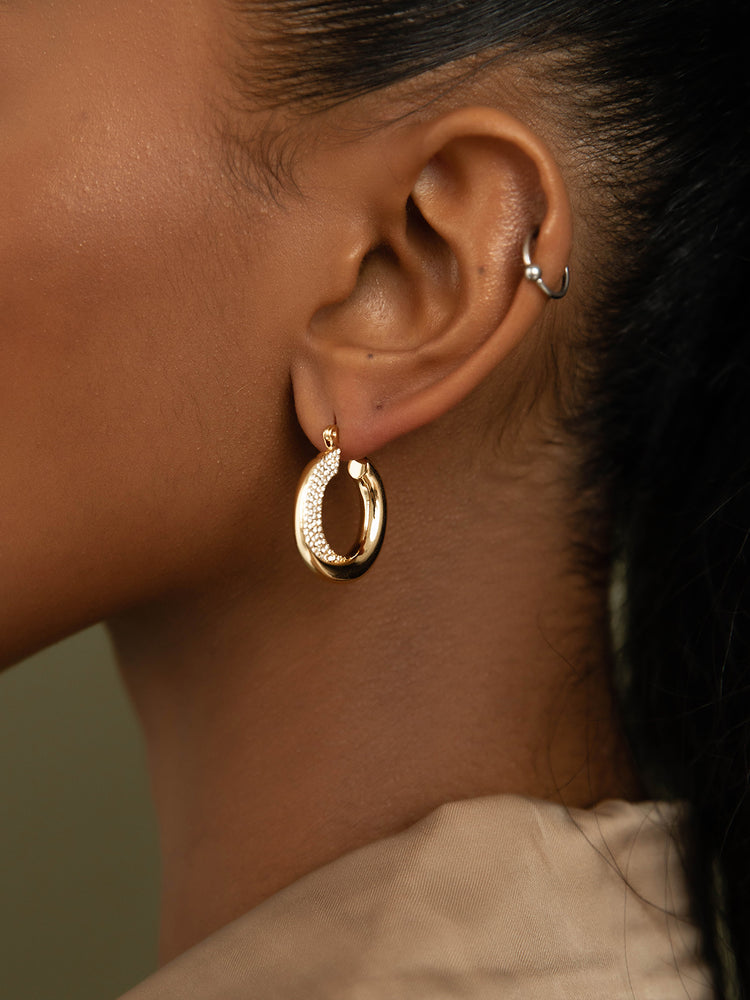 Load image into Gallery viewer, olive + piper Lennon Hoop Earrings