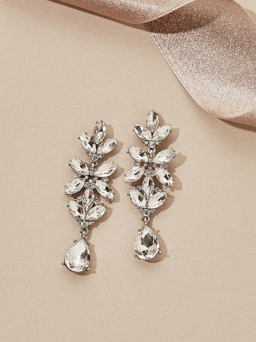 olive + piper Esmeralda Drop Earrings - Silver