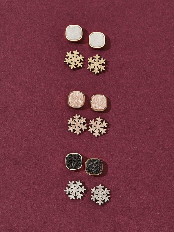 olive + piper Let It Snow Stud Set