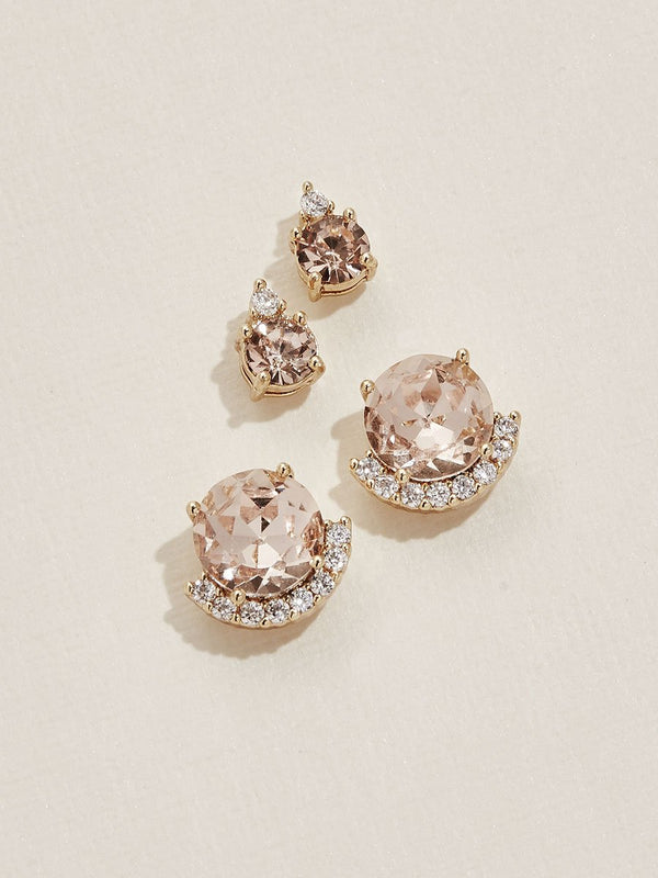 olive + piper Coco Earring Set - blush