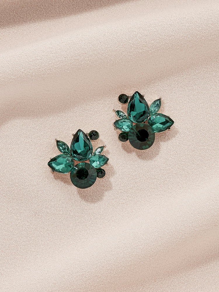 olive + piper Holiday Bordeaux Stud Earrings
