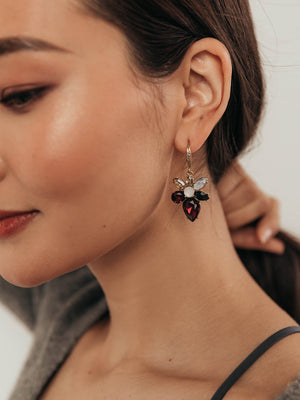 Load image into Gallery viewer, olive + piper Scarlet Drop Earrings
