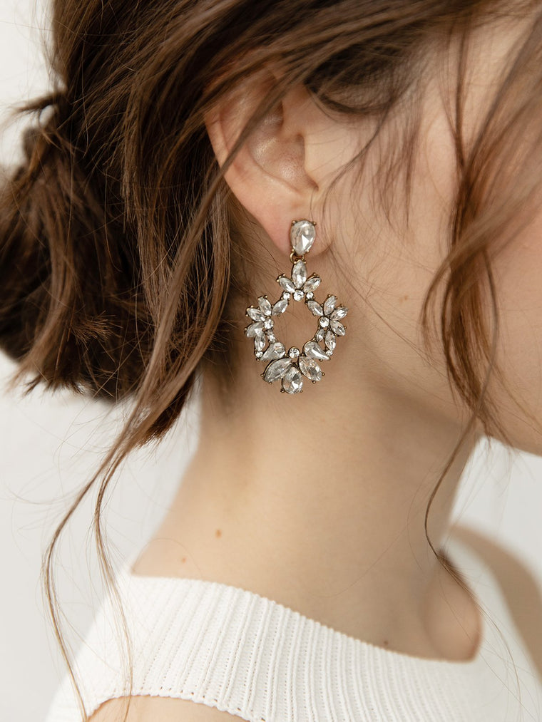 olive + piper Olivia Crystal Statement Earrings
