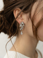 olive + piper Florence Drop Earrings Silver