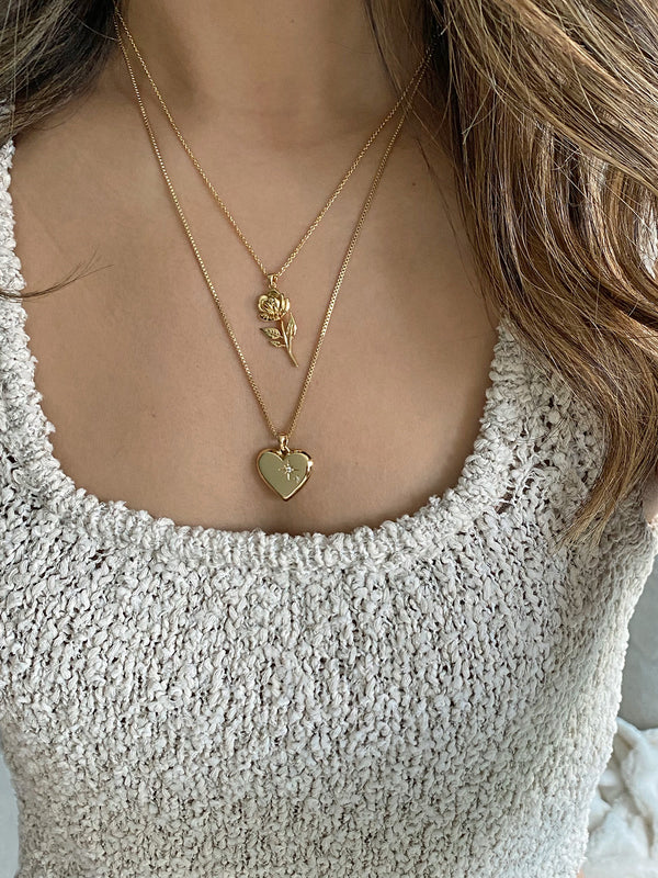 olive + piper Amour + Rosa Pendant Necklace Set