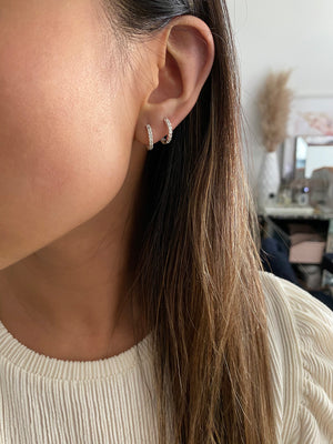 Load image into Gallery viewer, olive + piper Mini Mina Hoops Earrings