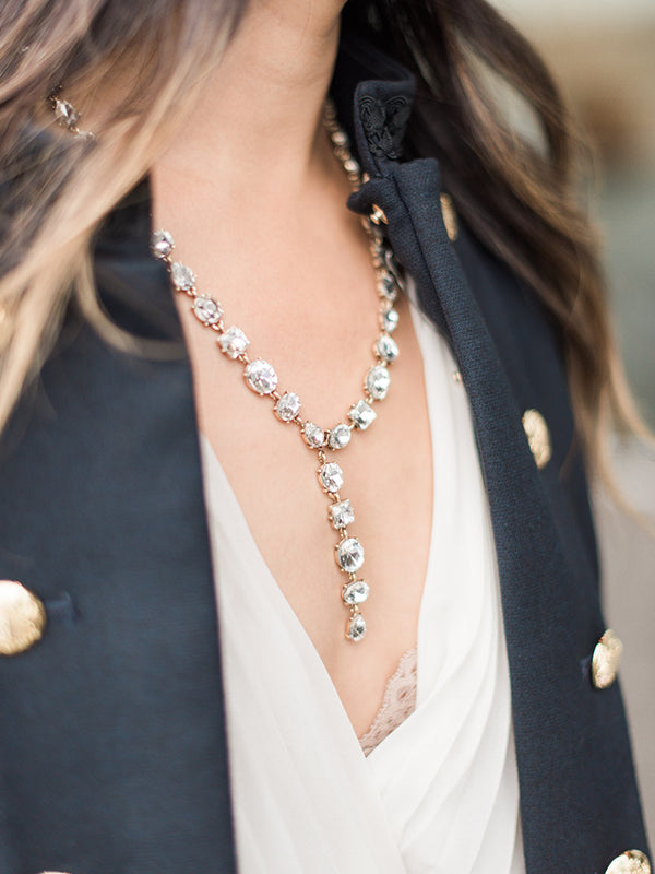 olive + piper Eyes on Me Statement Y Necklace