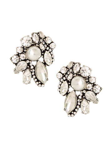 olive + piper Galactic Cluster Statement Stud Earrings