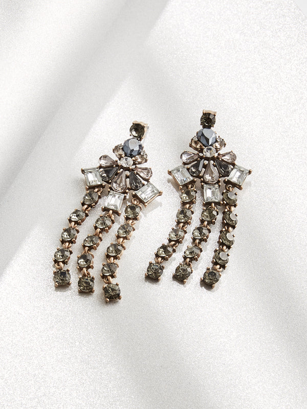 Gatsby Statement Earrings - Olive + Piper