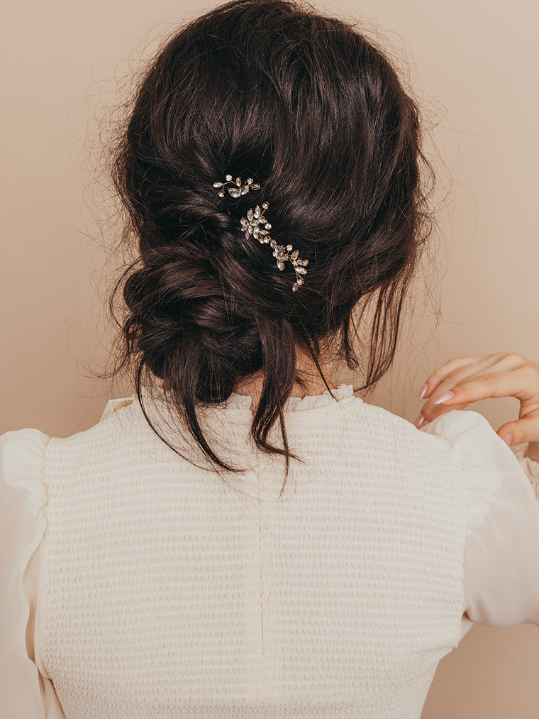 olive + piper Quinn Crystal Wedding Hair Pin