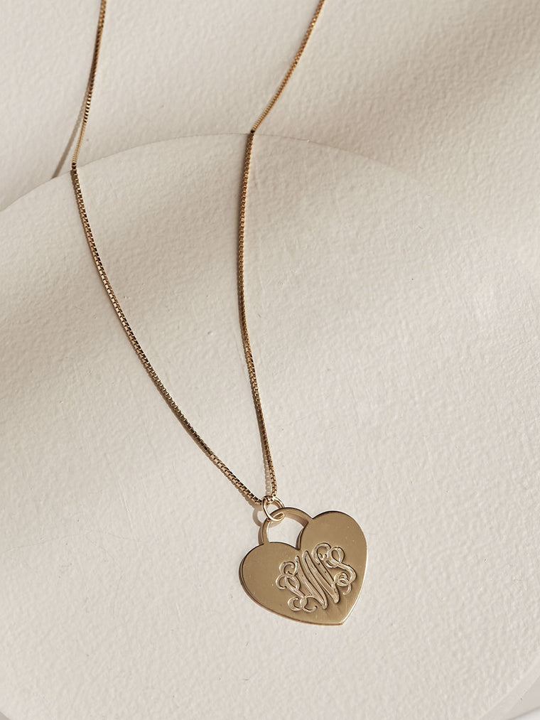 Monogram Heart Necklace