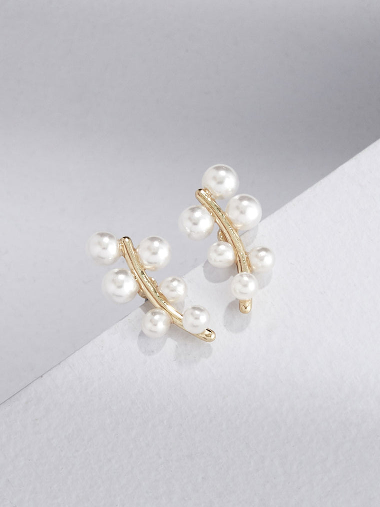 PRE-ORDER - Heather Pearl Studs