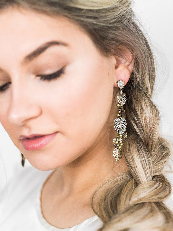 In the Tropics Palm Statement Earrings