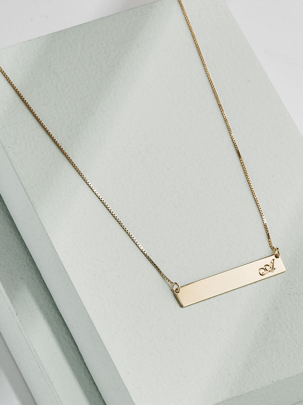 olive + piper Customized Horizontal Bar Necklace