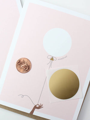 Load image into Gallery viewer, Inklings Paperie Balloon Scratch-Off Card