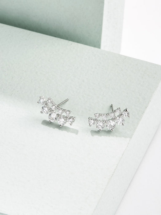 olive + piper Iris Crystal Stud Earrings