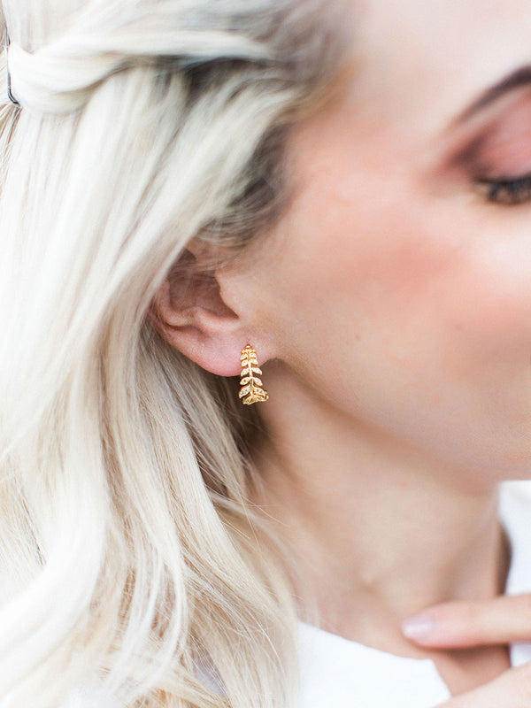 olive + piper Mini Ivy Hoop Earrings