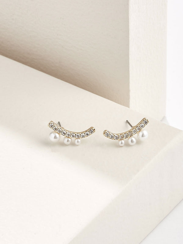 olive + piper Lauren Pave Stud Earrings