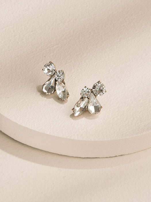 olive + piper Leah Stud Earrings - Clear