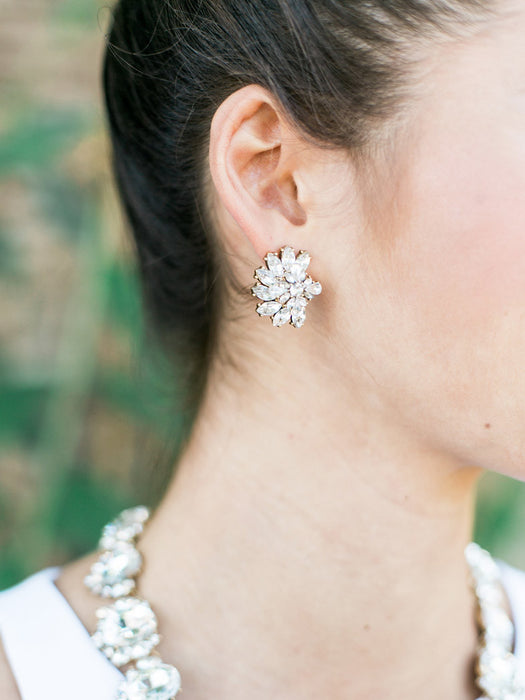 Luxe Cluster Stud Earrings - Olive + Piper fashion jewelry