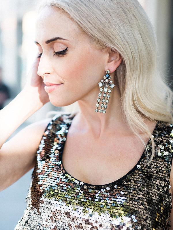 Gatsby Drop Earrings - Statement Earring collection