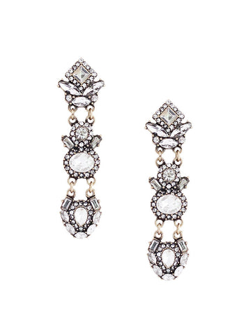 olive + piper Mila Crystal Drop Statement Earrings