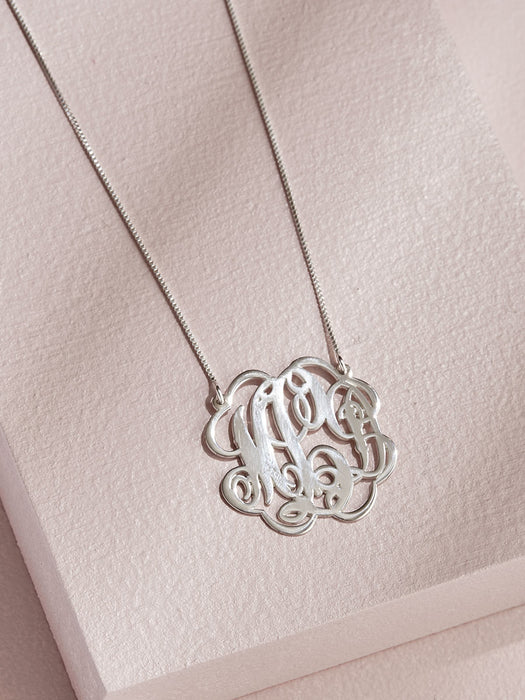 olive + piper Twisted Monogram Necklace