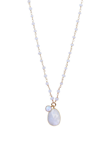 olive + piper Moonstone Pendant Necklace