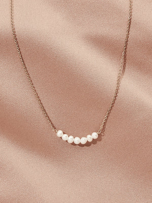 Load image into Gallery viewer, olive + piper Archer Multi Freshwater Pearl Pendant Necklace