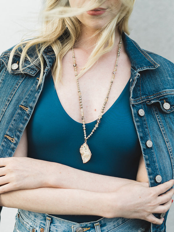 olive + piper Brooke Druzy Necklace