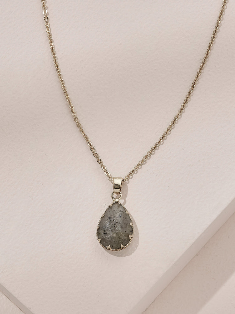 olive + piper Semi-Precious Peyton Pendant Necklace