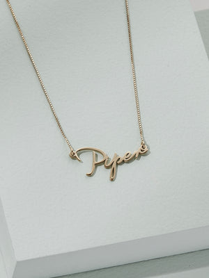 Load image into Gallery viewer, olive + piper Mini Name Necklace