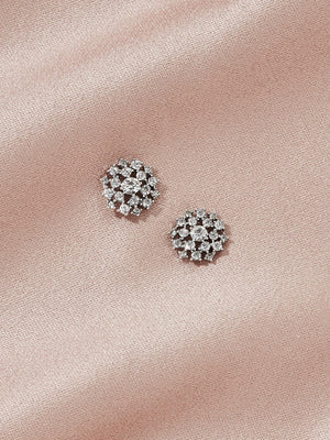 olive + piper Miles Stud Earrings - Silver