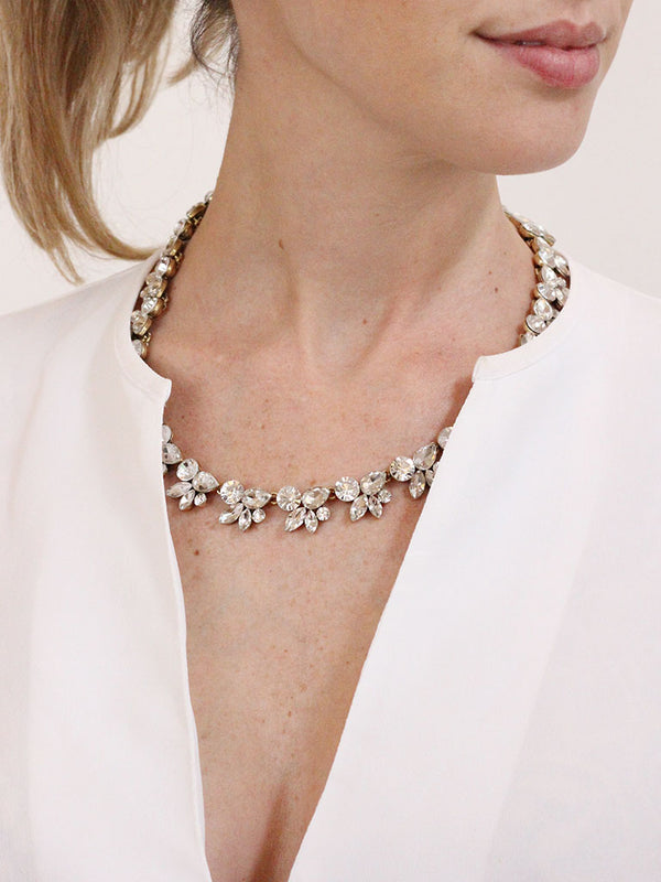 olive + piper Paloma Crystal Statement Necklace