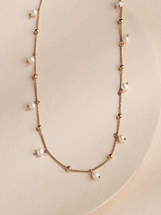 olive + piper Pearl Dot Necklace