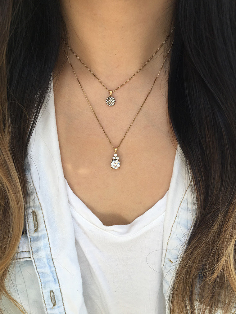 olive + piper Chloe Crystal Pendant Necklace