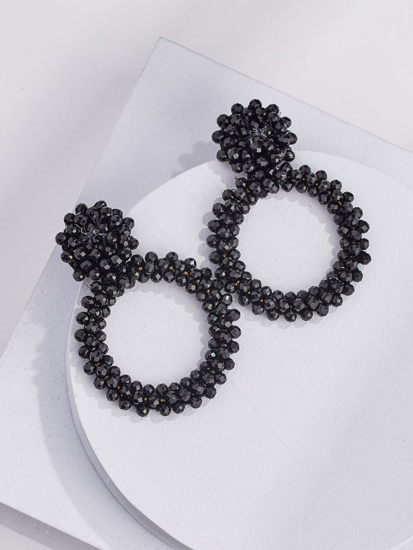 Peyton Drop Earrings - Onyx