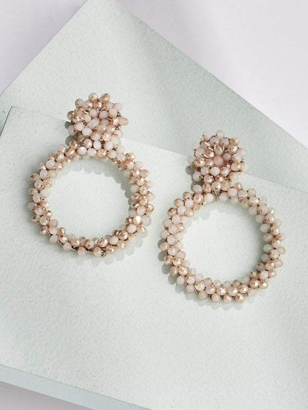 Peyton Drop Earrings - Pink Quar