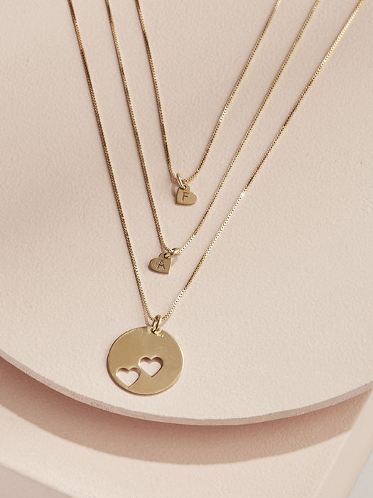 Piece Of My Heart Necklace Set - Gold