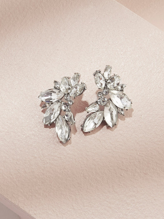 olive + piper Porter Cluster Stud Earrings SILVER