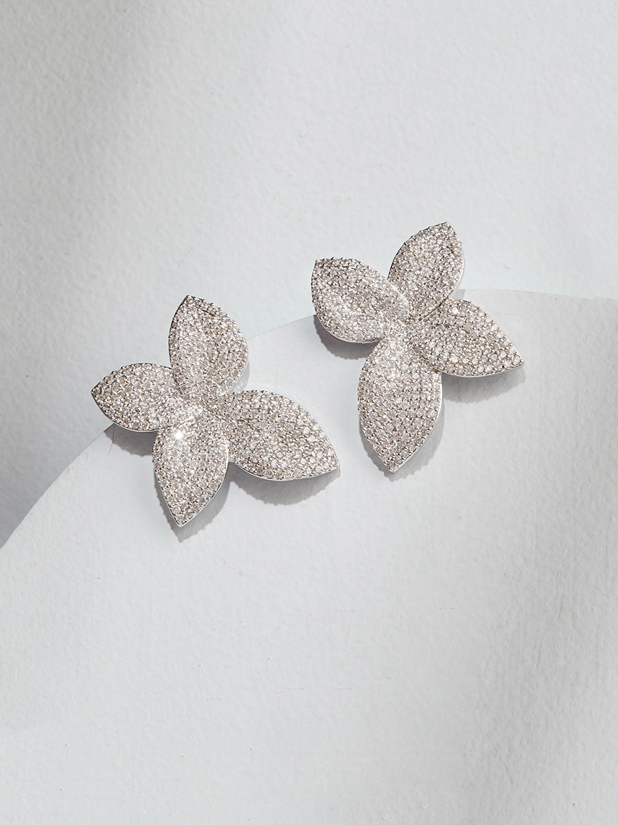 Primrose Cubic Zirconia Stud Earrings - Olive + Piper Vancouver