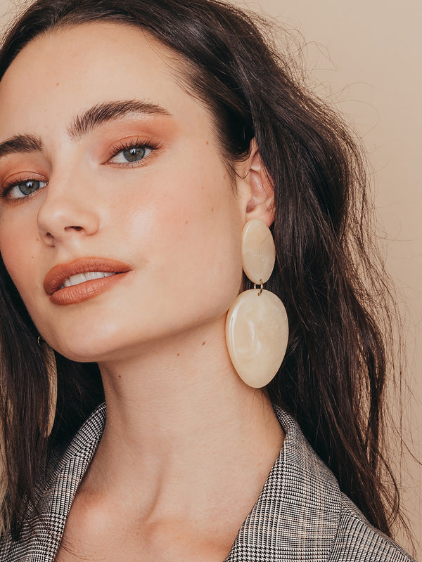 olive + piper Dunbar Statement Drop Earrings