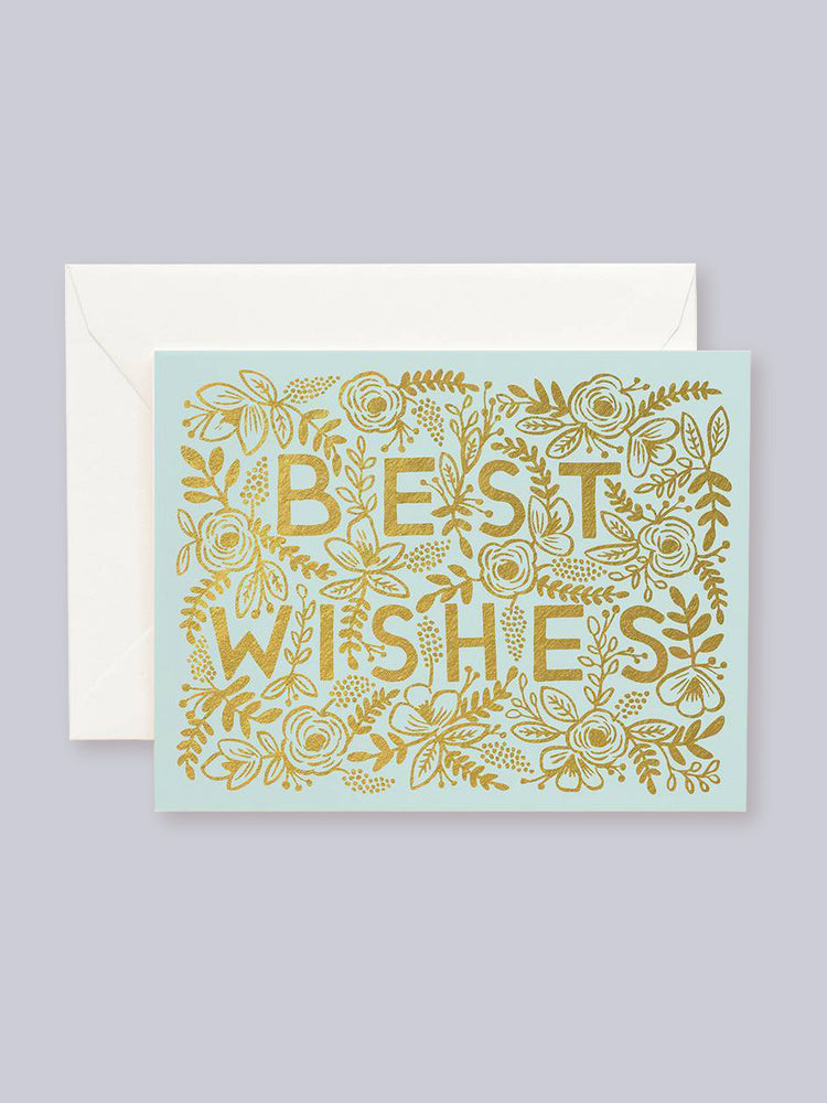 Load image into Gallery viewer, Rifle Paper Co. Golden Best Wishes Card