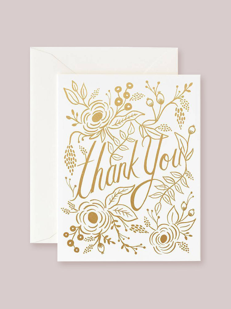Rifle Paper Co. Golden Thank You Card