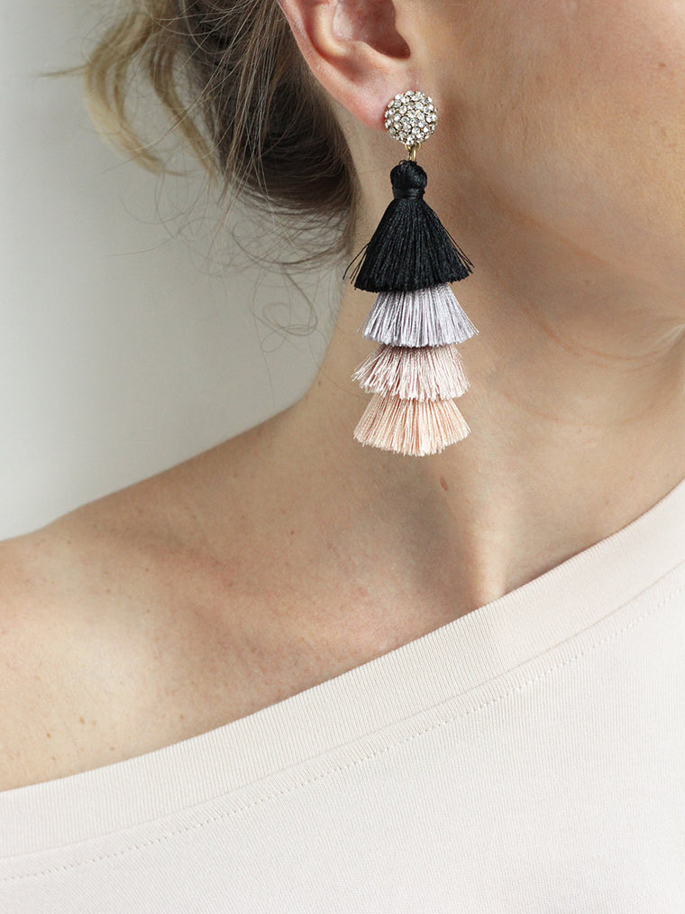 Tassel Earrings | Stud Earrings - Fashion jewelry by O+P