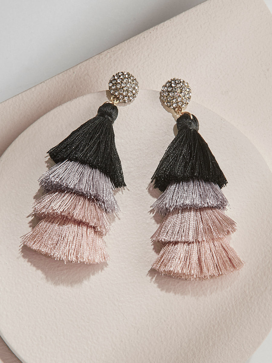Savannah Tassel Earrings - Ombre by olive + piper