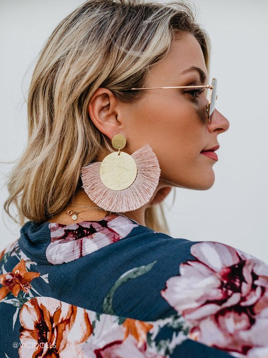 olive + piper Tropez Statement Tassel Earrings