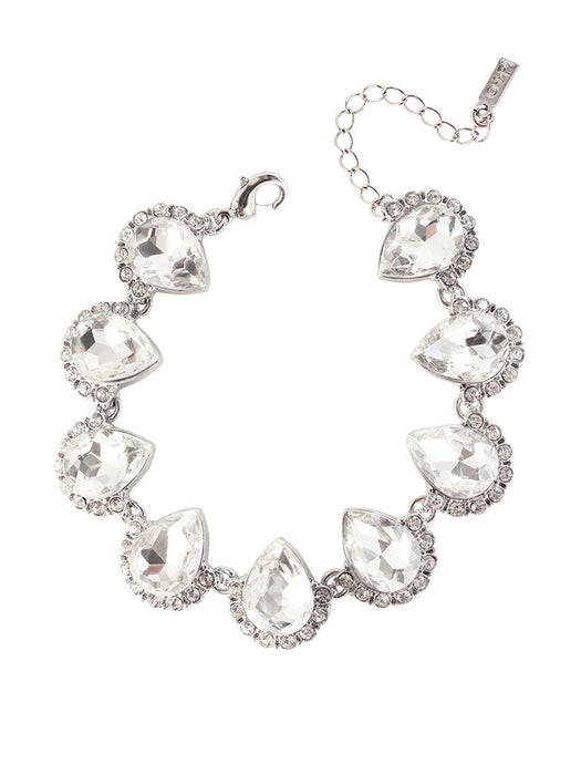 Tula Crystal Bracelet in Silver and Clear